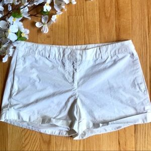 Kenar Crisp White Roll-Up Chino Shorts Size 8